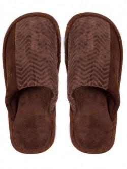 Pantofi de casa pentru barbati - culoare maro