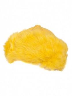 Sapca de dama din piele culoare - galben