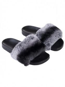 Papuci de dama din piele naturala – gri