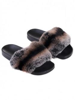 Papuci de dama din piele naturala – maro