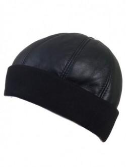 Pălărie pentru bărbați din piele naturală cu elastic