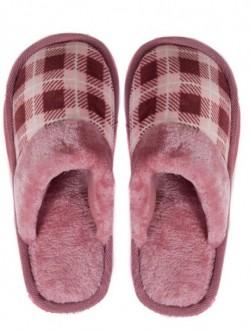 Pantofi de casa de dama in carouri