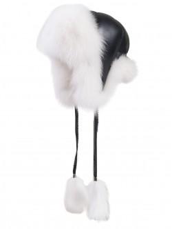 Caciula de vulpe - culoare alb