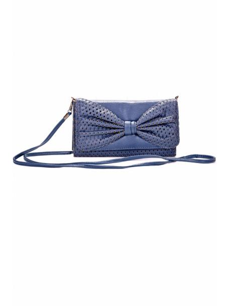 Geanta portofel albastra