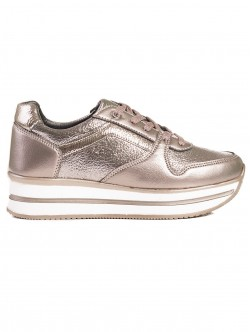 Pantofi sport de dama cu platforma - aurii