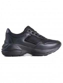 Adidasi de dama cu platformă - negri