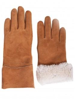 Mănuși de damă din piele naturala - maro