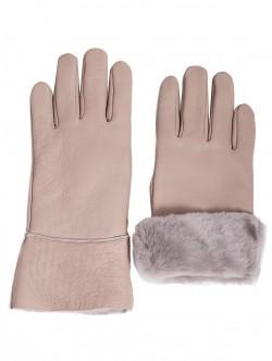 Mănuși de damă din piele naturala - gri