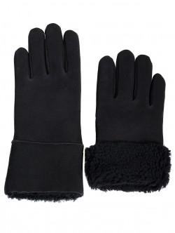 Mănuși de damă din piele naturala - negru