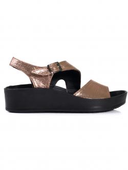 Sandale anatomice de damă, culoare bronz