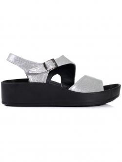 Sandale anatomice de damă, culoare argintie
