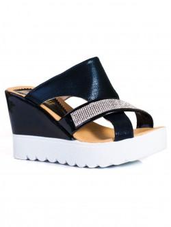 Papuci de damă eleganți, culoare neagră