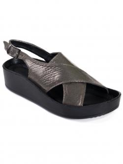 Sandale comode de damă, culoare metalică