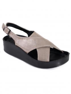 Sandale comode de damă, culoare aurie
