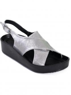 Sandale comode de damă, culoare argintie