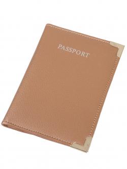 Etui pentru pașaport, culoare aurie