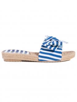 Papuci de damă, cu dungi albastre