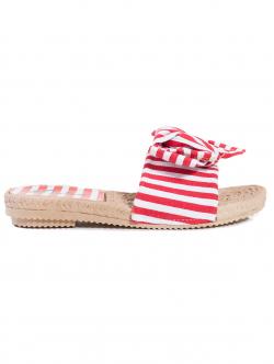 Papuci de damă, cu dungi roșii