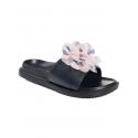 Papuci de damă cu floare, culoare pudră