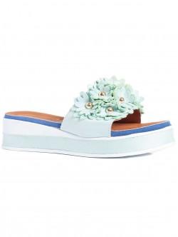 Papuci de damă cu talpă confortabilă, culoare mentă