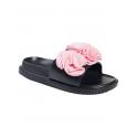 Papuci anatomici cu floare, culoare roz