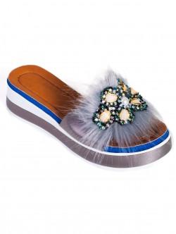 Papuci de damă moderni, culoare gri