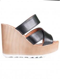 Papuci de damă cu toc înalt, culoare neagră