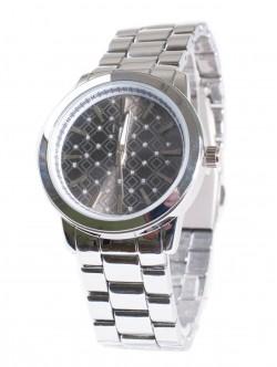 Ceas de damă cu lănțișor metalic argintiu