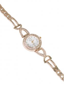 Ceas de damă cu lănțișor metalic, culoare albă