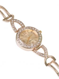 Ceas de damă cu lănțișor metalic, culoare aurie