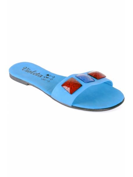 Papuci Violeta albastri