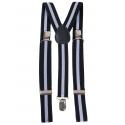 Bretelele colorate alb și negru