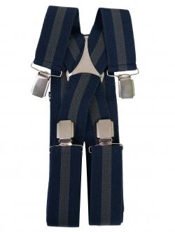 Bretele duble în culori albastru și gri