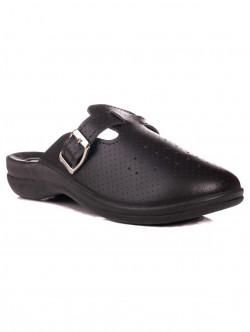 Papuci medicali cu picioare late negre