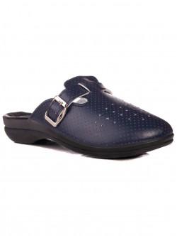 Papuci medical albastru cu picioare late