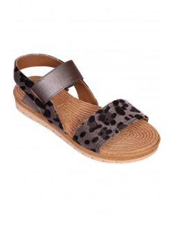 Sandale de dama cu talpă anatomică - gri și negru
