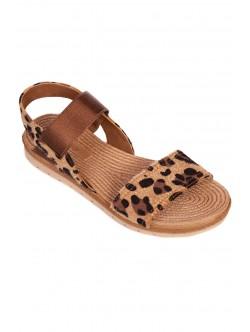 Sandale de dama cu talpă anatomică - maro și negru