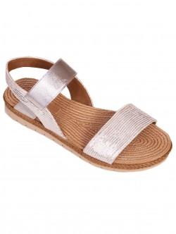 Sandale cu talpă anatomică pentru femei - argintiu