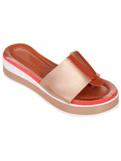 Papuci de damă confortabile din aur