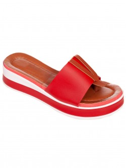 Papuci roșii pentru doamne confortabile