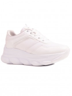 Încălțăminte pentru femei cu platformă în alb