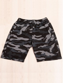 Pantaloni scurți de bărbați - camuflaj negru