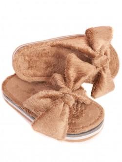 Papuci cu platformă - bej