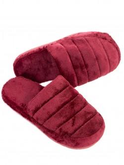 Papuci de casă pentru femei - visiniu