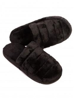 Papuci de casă pentru femei - negri