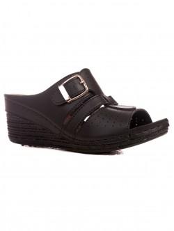 Papuci de damă cu platformă înaltă în negru