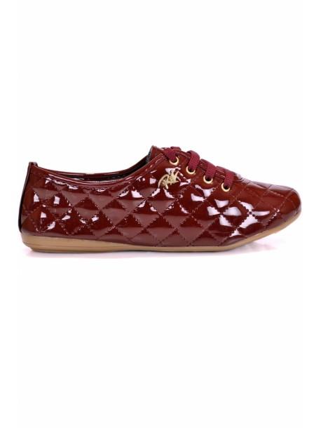 Pantofi Roana bordo