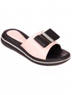 Papuci cu panglică - pulbere mată