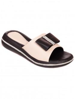 Papuci cu panglică - bej