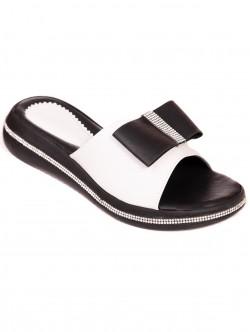 Papuci cu panglică - mat alb